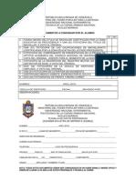 Documentos a Consignar Por El Alumno (Sobre)