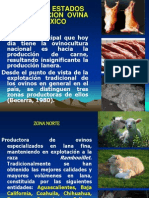 Principales Estados Productivos de Ovinos en Mexico