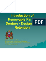Introduction of Removable Partial Denture - Design and Retention