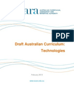 Australian Curriculum Technologies - February 2013
