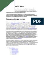Programación de líneas