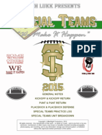 Coach Lukk's Special Teams Section of Playbook, 2015