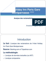 Hotel Holiday Inn Paris Gare Montparnasse. Analyse de reclamations