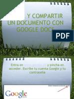 Editar y Compartir Documentos en Google Docs
