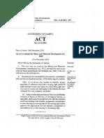 Mines and Minerals Development Act (Amendment)-1 (Zambia)