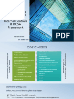 Internal Control and RCSA Programm