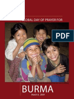 Global Day of Prayer for Burma, Sunday March 8