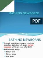 Bathing Newborns
