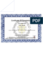 Tom's CPR Certificate