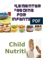 Supplementary Feeding for Infants