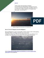 How to Travel to Singapore - Cheap Airfares