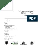 Sample Maintenance and Efficiency Plan 1