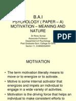 Ba Paper - A Motivation i Revised