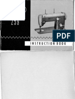 Pfaff 259 Instruction Book 2.60