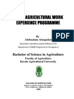 Dissertation on Rural Agricultural Work Experience (RAWE)