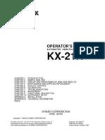 KX21 Operator Manual