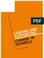 Leading and Supporting Change in Schools a Discussion Paper