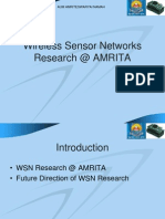 Wireless Sensor Networks Research @ AMRITA v4