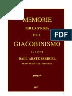 Barruel Memorie Tomo V
