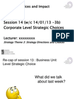 Theme 3 Session 14 Corporate Level Strategy