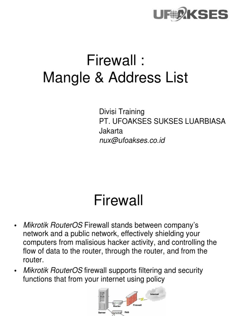 Modul Firewall Mangle&Address List