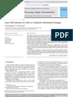 Gaze shift behavior on video as composite information foraging