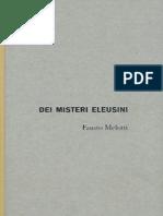 Fausto Melotti Dei Misteri Eleusini