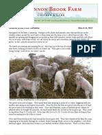 Shannon Brook Farm Newsletter 3-16-2013