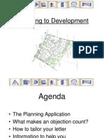 Alderton planning application letter writing guide