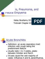 Bronchitis Pneumonia