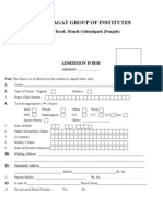 Group Admission Form