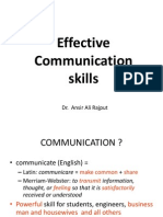 Effective_communication_Skills Dr Ansir Rajput