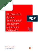 10 Directriz Básica de Planificación Emergencias Transporte Mercancías Peligrosas