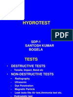 Hydro Test Preparation.
