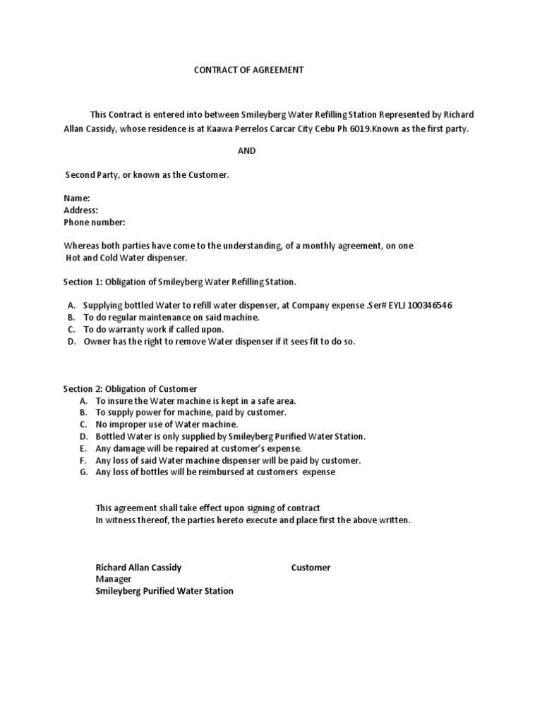 Supply Agreement Contract Resume Template Ideas