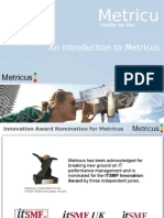 Software as a Service solution for IT Performance Measurement - Metricus