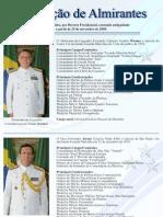 Promoção de Almirantes - Novembro de 2009