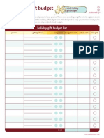 Free Printable Holiday Organization Budget Form Template 2