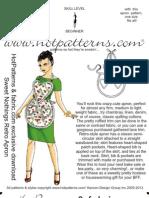 HP Fabric.com Sweet Nothings Retro Apron