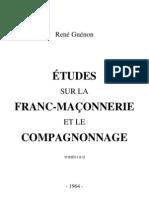 60795098 Rene Guenon 1964 Etudes Sur La Franc Maconnerie Et Le Compagnonnage