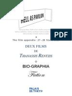 DEUX FILMS  DE THANASSIS RENTZIS  DEUX FILMS  DE THANASSIS RENTZIS  DEUX FILMS  DE THANASSIS RENTZIS  DEUX FILMS DE THANASSIS RENTZIS