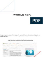 WhatsApp No PC