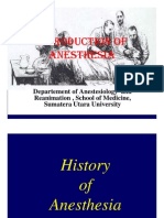 Introduction of Anesthesia
