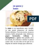 Papas con queso y champiñones