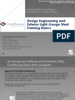Design Engineering and Exterior Light-Gauge Steel Framing Basics