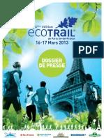 Ecotrail Paris 2013 Dossier Prensa Completo.