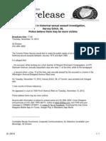 Toronto Police Report Regarding Harvey Ehrlich