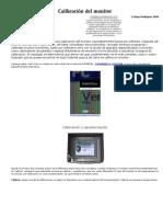 Calibración del monitor