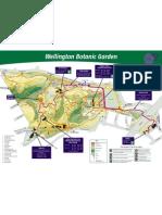 Botanic Garden Map, Wellington New Zealand