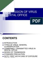 transmission of virus in dental office